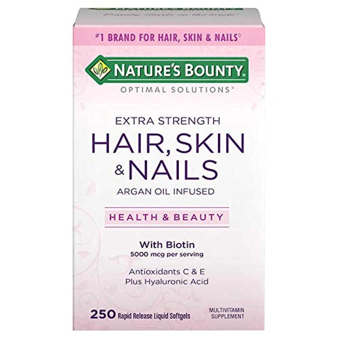 ホイールぐるぐる二週間【美肌&美髪&爪】Nature's Bounty - HAIR, SKIN and NAILS 250 Softgels X 2パック ~海外直送品~cdfw
