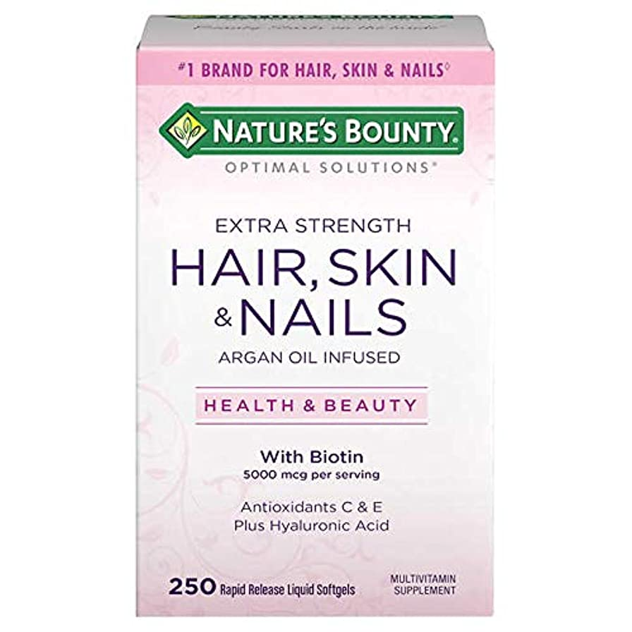 欠員フレームワークくさび【美肌&美髪&爪】Nature's Bounty - HAIR, SKIN and NAILS 250 Softgels X 2パック ~海外直送品~cdfw