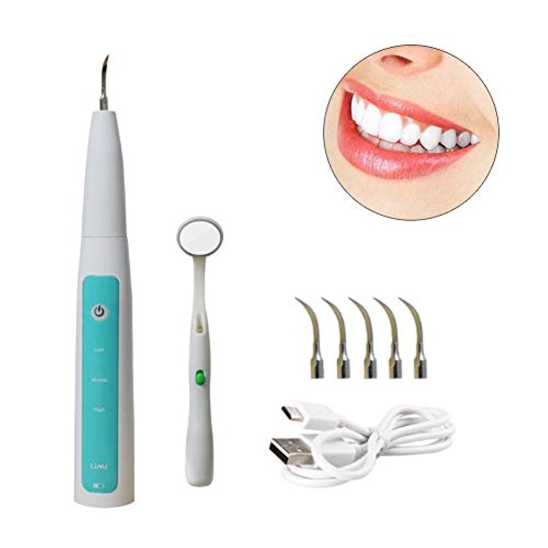 タフ一致する扱いやすい超音波歯磨き粉、歯石から汚れを除去するために微積分から赤い歯を排除するためのインテリジェントな電気洗浄装置