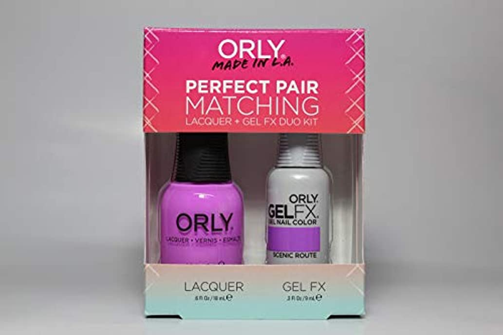 抵当女優嘆くOrly - Perfect Pair Matching Lacquer+Gel FX Kit - Scenic Route - 0.6 oz / 0.3 oz