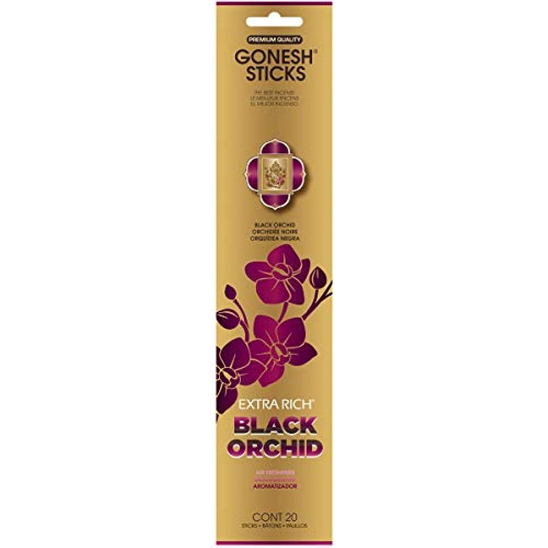内側かなりオピエートGONESH(ガーネッシュ) インセンススティック アドベンチャーコレクション Black Orchid(オーキッド?チュベローズ?ミュゲ?サンダルウッド)