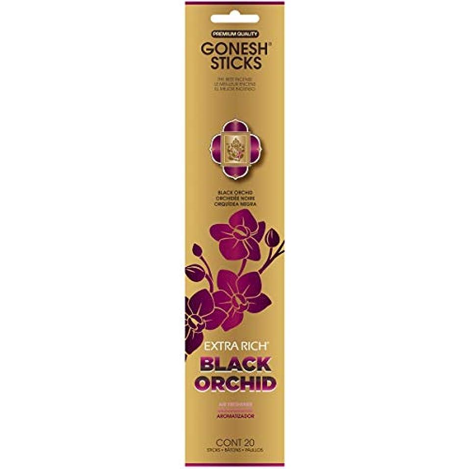 着服パキスタン人順応性のあるGONESH(ガーネッシュ) インセンススティック アドベンチャーコレクション Black Orchid(オーキッド?チュベローズ?ミュゲ?サンダルウッド)