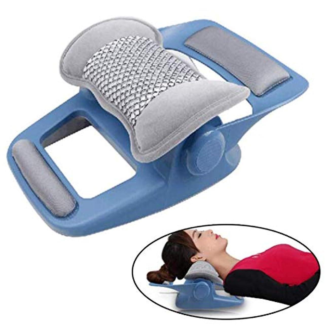 スカイ均等にゲインセイマッサージャーサイドスリーパー、背中と胃の枕木用の整形外科枕頸部マッサージ枕バック