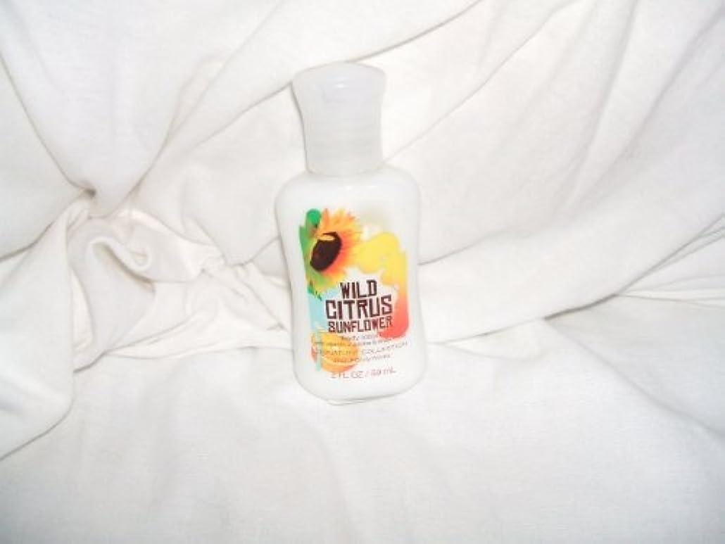 遡る積分フォアタイプバス&ボディワークス ワイルド シトラス サンフラワー ミニサイズ ボディローション Wild Citrus Sunflower Mini Size body lotion