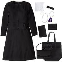 (マーガレット)marguerite m433 7点セット バッグ ネックレス イヤリング ふくさ ハンカチ 数珠 折畳トート ブラックフォーマル レディース スカート スーツ 礼服