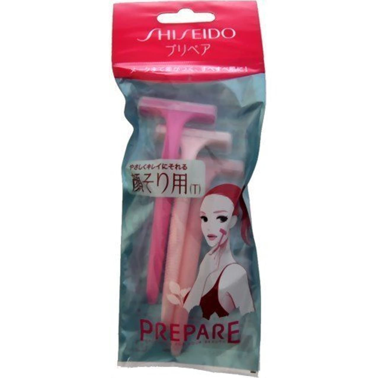 肝病新着【まとめ買い】プリペア 顔そり用T 3本入 ×2セット