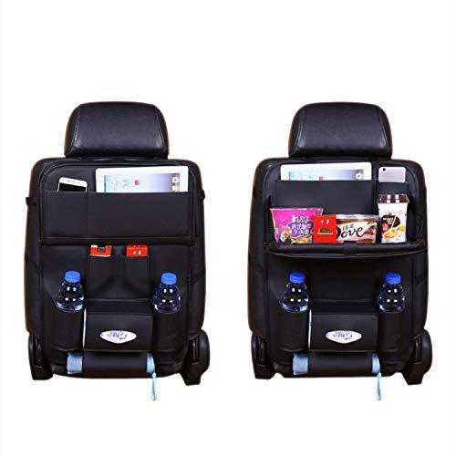 車用シートバックポケットVITCOCO 車用収納ポケット レザー素材パレット、防汚、高品質の車の収納ボックス、カップホルダー、雑誌のストレージ、多機能車用シートバックポケット車の収納袋