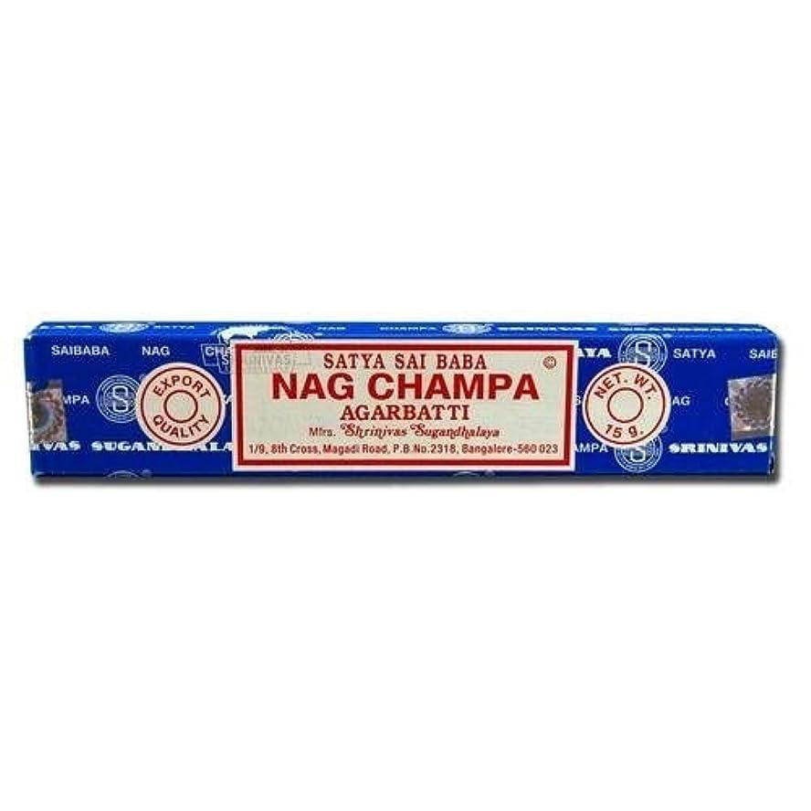 平和的収束するガジュマルSatya お香 サイババ?ナグチャンパ 15g×12箱入り=180g