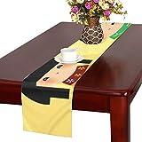 LKCDNG テーブルランナー かわいい 和風の人形 クロス 食卓カバー 麻綿製 欧米 おしゃれ 16 Inch X 72 Inch (40cm X 182cm) キッチン ダイニング ホーム デコレーション モダン リビング 洗える