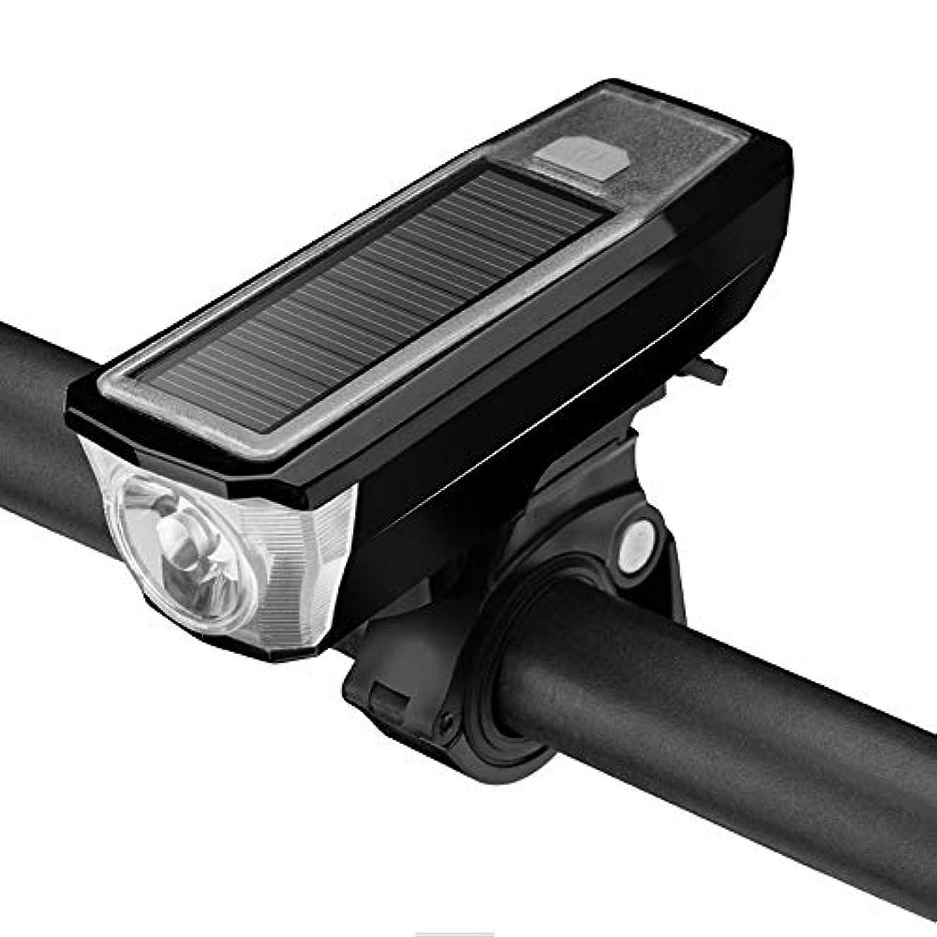 参照データセクタHS-01 自転車ライト、ヘッドライト、グレア懐中電灯、ソーラー充電ホーン、ナイトライディング、マウンテンバイク用アクセサリー、装備品ライト(ブラック、レッド)