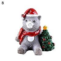 hamulekfae-かわいい漫画動物樹脂ミニチュア盆栽マイクロ風景ミニクリスマスの装飾 - 8#