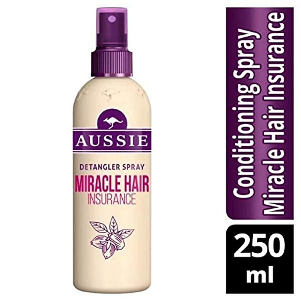 あごひげ責め妊娠した[Aussie ] オーストラリアの奇跡髪保険Detanglerスプレー250ミリリットル - Aussie Miracle Hair Insurance Detangler Spray 250ml [並行輸入品]