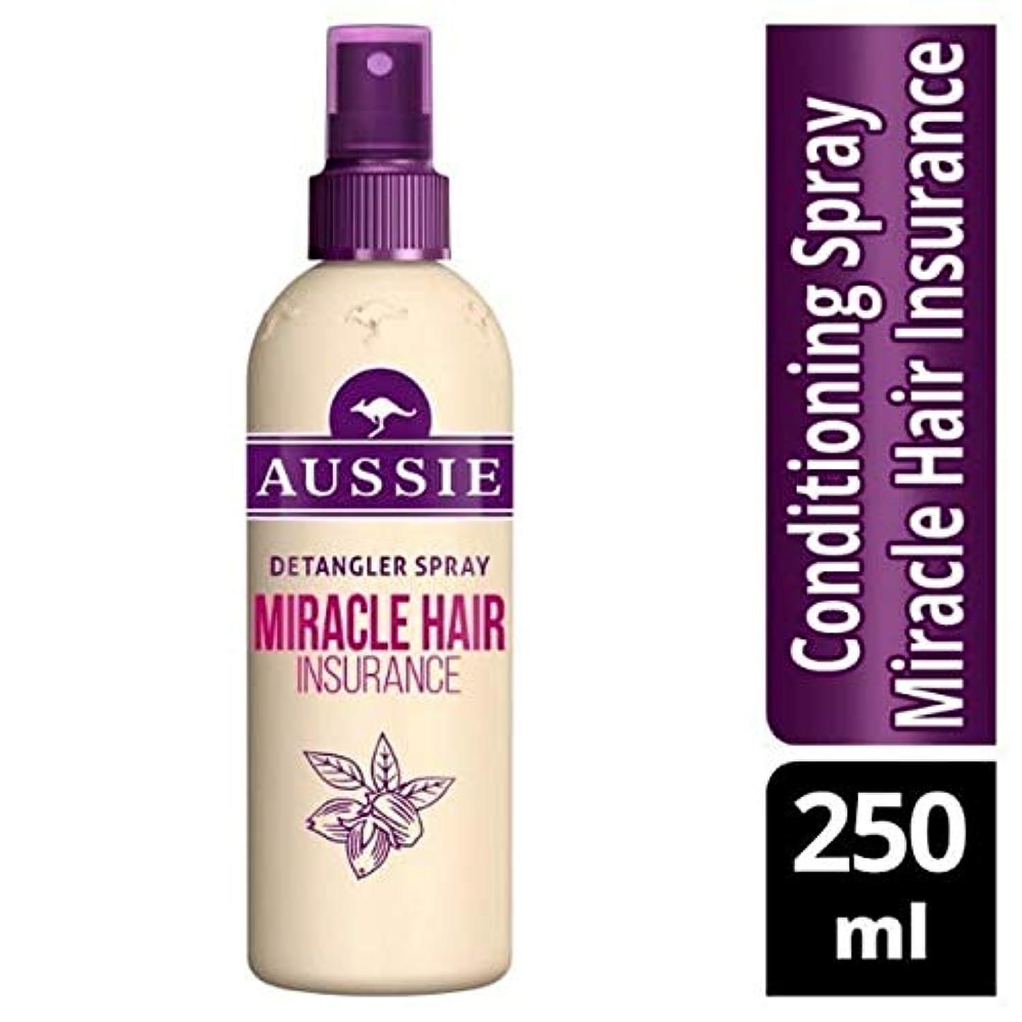 シェーバー後退する主張[Aussie ] オーストラリアの奇跡髪保険Detanglerスプレー250ミリリットル - Aussie Miracle Hair Insurance Detangler Spray 250ml [並行輸入品]