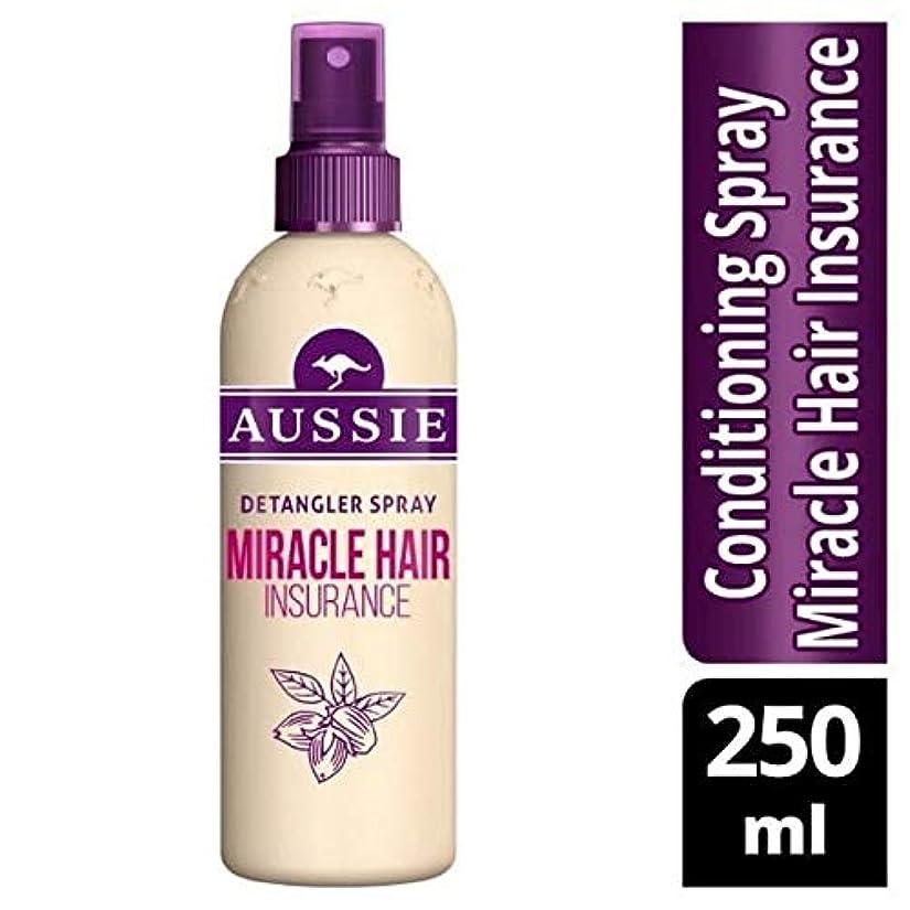 スリル正確さリーフレット[Aussie ] オーストラリアの奇跡髪保険Detanglerスプレー250ミリリットル - Aussie Miracle Hair Insurance Detangler Spray 250ml [並行輸入品]