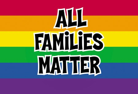 2 x NSI - All Families Matter Gay or Straight! Pride Postcards - 6'' x 4'' Inches