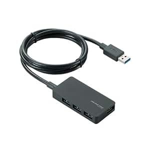 エレコム USB3.0 ハブ 4ポート ACアダプタ付 セルフ/バス両対応 ブラック U3H-A408SBK
