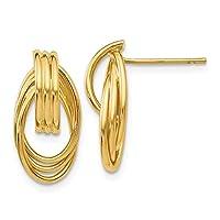 Roy Rose Jewelry 14Kイエローゴールド 光沢仕上げ ファンシーポストピアス