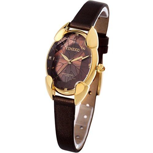 Time100 腕時計レディース 多面ひし形クリスタル 日本製ムーブメント レディースウォッチ W50010L.05A
