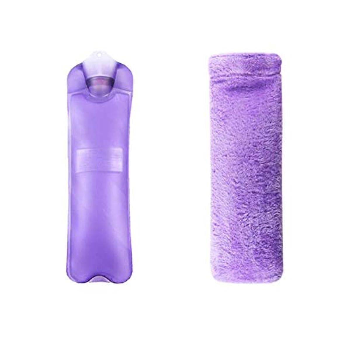 疑わしいテクスチャーリスナー温水ボトル大温水ボトル2Lは冬に暖かく保ちます