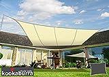 クッカバラ日除けシェードセイル アイボリー・象牙色 4x5m長方形 紫外線98%カット 防水タイプ OL0108LREC