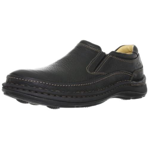 [クラークス] スリッポン メンズ ネイチャーイージー Mens Nature Easy(定番) Black Leather(ブラックレザー/UK8.5)