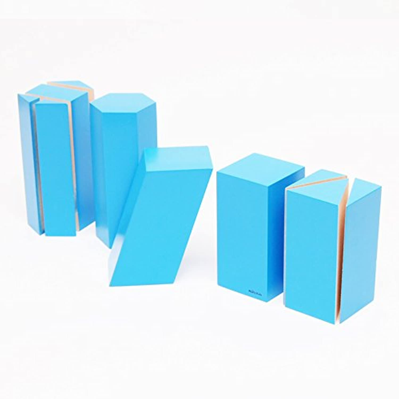 【MONTE Kids】モンテッソーリ教具 --組み立て幾何学立体 -- Montessori 知育玩具教具 幼児早期教育 モンテキッズ 本格教材 算数 おもちゃ -- 組み立て幾何学立体