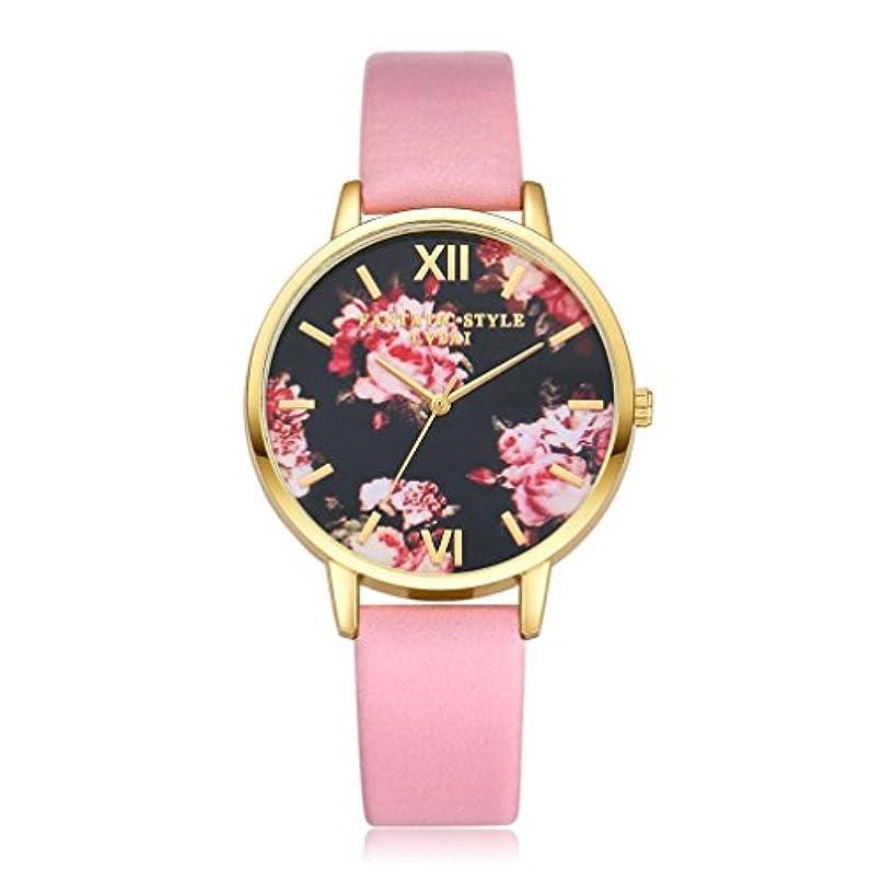 船実際に声を出してクリアランス!!!レディース腕時計, jushyeレディースガールズ腕時計レトロレインボーデザインレザーバンドアナログ合金クォーツ腕時計 マルチカラー