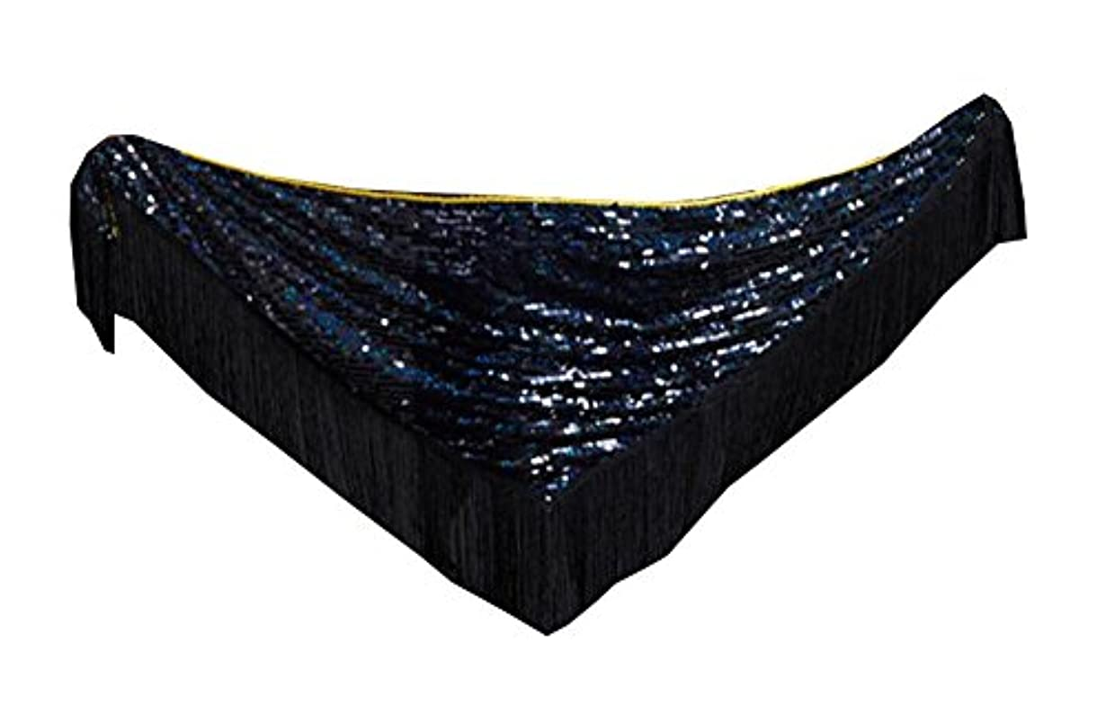 長老精通した絶縁するトライアングルダンススカーフスカートベルトウエストチェーン - ブラック