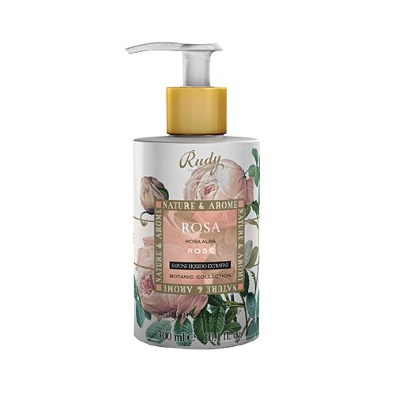 きゅうり世界の窓捨てるRUDY Nature&Arome SERIES ルディ ナチュール&アロマ Liquid Soap リキッドソープ ローズ