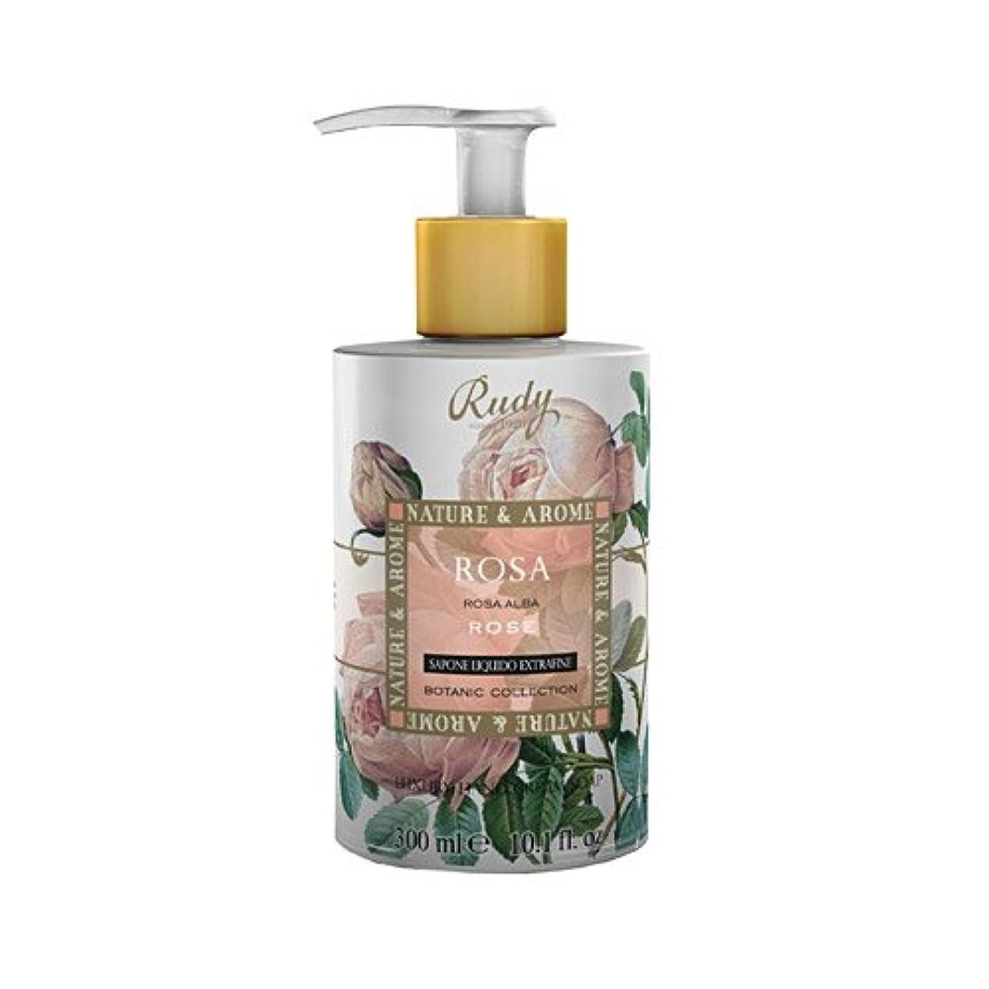 持ってる反抗ほうきRUDY Nature&Arome SERIES ルディ ナチュール&アロマ Liquid Soap リキッドソープ ローズ