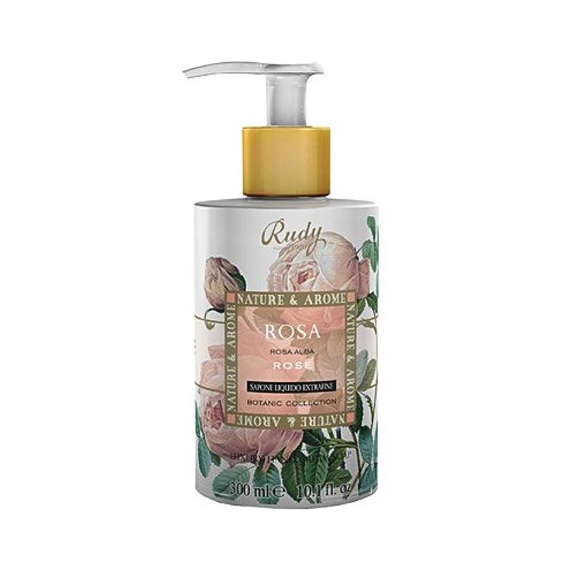 聴衆奇跡遮るRUDY Nature&Arome SERIES ルディ ナチュール&アロマ Liquid Soap リキッドソープ ローズ