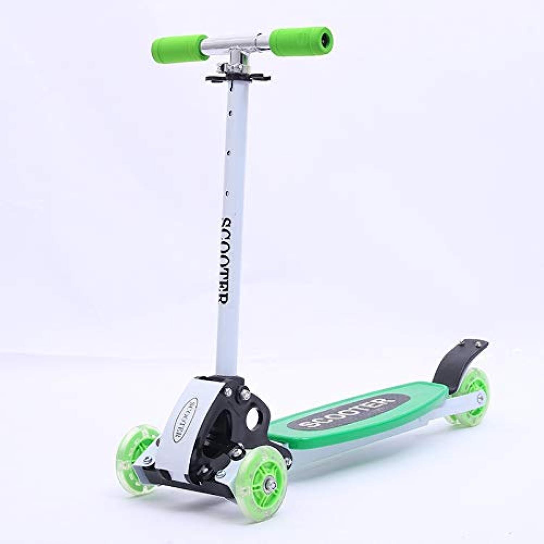 子供のスクーター三輪スクータースクーターの三輪スキッド子供のおもちゃ誕生日プレゼント ( Color : Green )