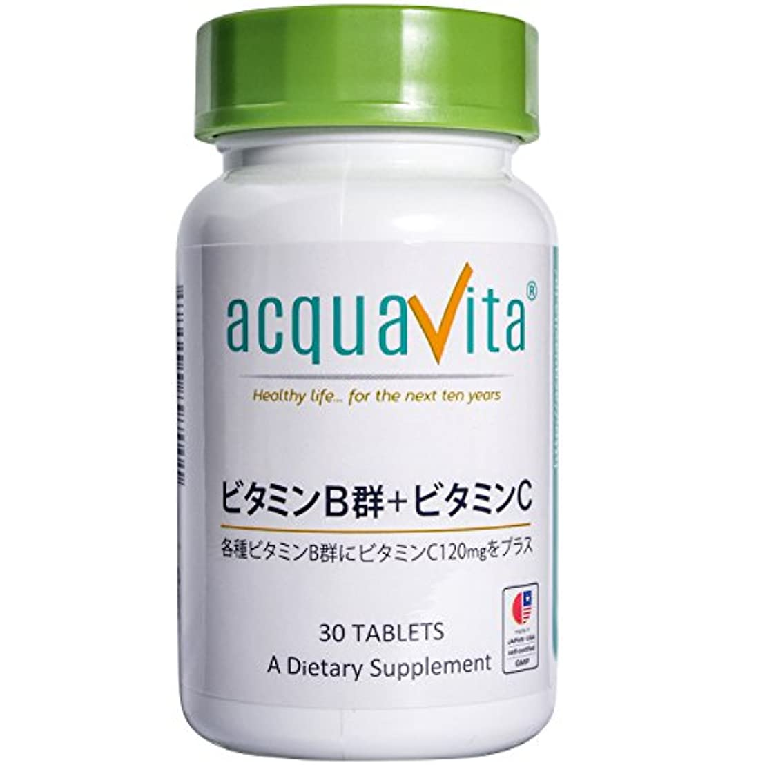混乱慣習落胆するacquavita(アクアヴィータ)  ビタミンB群+ビタミンC 30粒