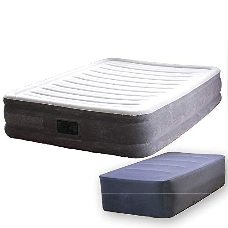緊張貪欲ロデオINTEX(インテックス) エアーベッド 本体+専用シーツセット ダブル (137×191×33cm) 電動式 ネイビー [ 日本語説明書 収納袋 付] 簡易ベッド 67767