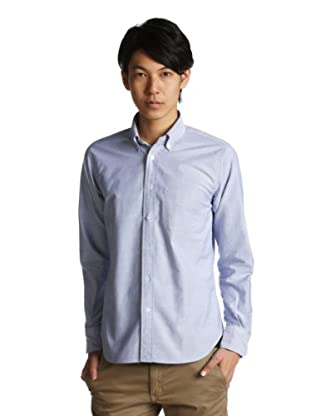 Supima Oxford Buttondown Shirt 1211-218-4822: Light Blue