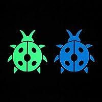 クインウィンド7.5 * 7.5 cm 漫画テントウムシ明るいステッカーグロー暗い壁スイッチデカールステッカー少年少女部屋ラップトップ DIY 装飾てんとう虫ステッカー -