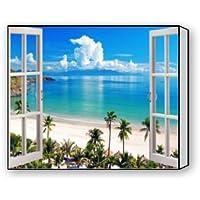 """ベストセラー、100%ブランド新しい、Glimpseビーチテーマのキャンバスにも含ま印刷(フレーム) -メジャーサイズ: 20( L ) """" X 16( W ) """""""
