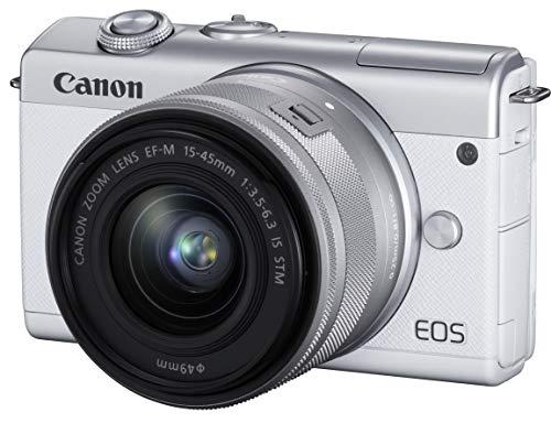 キヤノン ミラーレスカメラ EOS M200 (ホワイト)・EF-M15-45 IS STM レンズキット