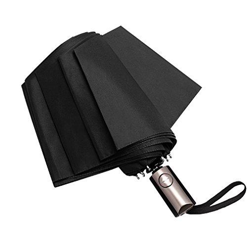 折りたたみ傘 自動開閉 おりたたみ傘 メンズ 強力撥水加工 晴雨兼用 軽量 Corrdirec (ブラック)