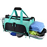 Ultimate Gym Bag 2.0: The Durable Crowdsource Designed Duffel Bag with 10 Optimal Compartments Including Water Resistant Pouch