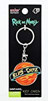 "BLIPS & CHITZ, Officially Licensed Original Artwork, METAL KEY CHAIN - 2"" x 4"""