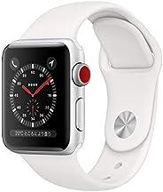 Apple?Watch Series?3(GPS?+?Cellularモデル)- 38mmシルバーアルミニウムケースとホワイトスポーツバンド