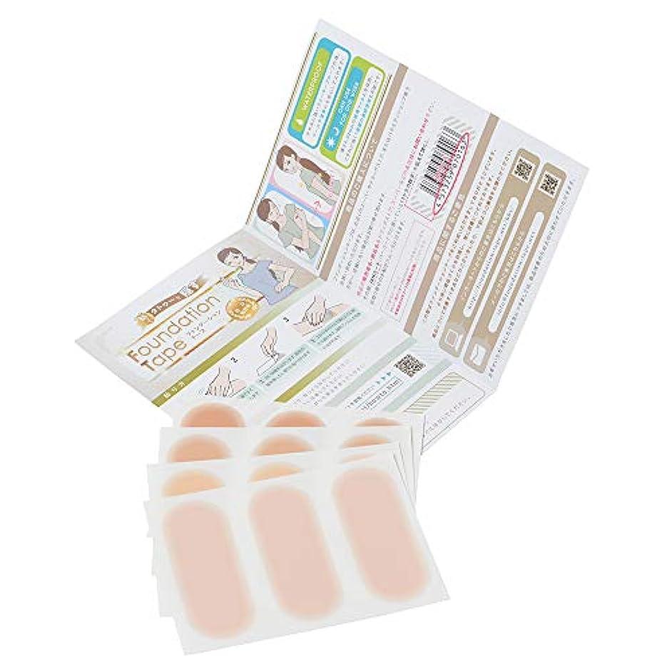 圧縮された分数熱(絆創膏サイズ) ファンデーションテープ (タトゥー隠しシール) お試しセット 4色4枚入 防水 つや消し 刺青 カバー 日本製 tattoo cover waterproof trial set