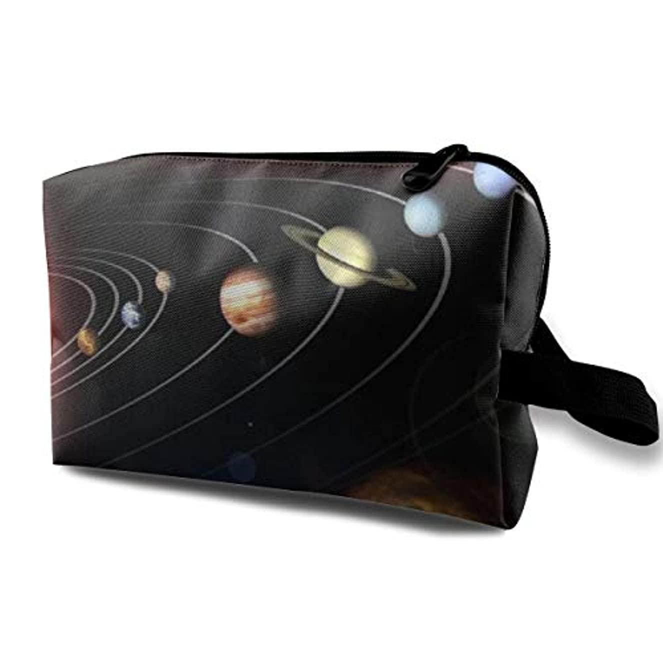 交換興奮する取るSolar System Galaxy World 収納ポーチ 化粧ポーチ 大容量 軽量 耐久性 ハンドル付持ち運び便利。入れ 自宅?出張?旅行?アウトドア撮影などに対応。メンズ レディース トラベルグッズ