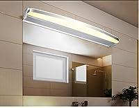 レンズライト ヨーロッパスタイルのLedミラーフロントランプ防水アンチ霧のバスルームミラーフロントライト、現代ランプの壁ランプ バスルームライト (色 : Warm color, サイズ さいず : 60cm 9w)