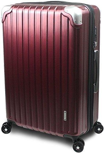 【SUCCESS サクセス】 スーツケース 3サイズ 【 大型76cm / ジャスト型70cm / 中型65cm 】 超軽量 TSAロック搭載 【 プロデンス2020 ダイヤルロックモデル】 (大型 Lサイズ 76cm, ワインヘアライン)