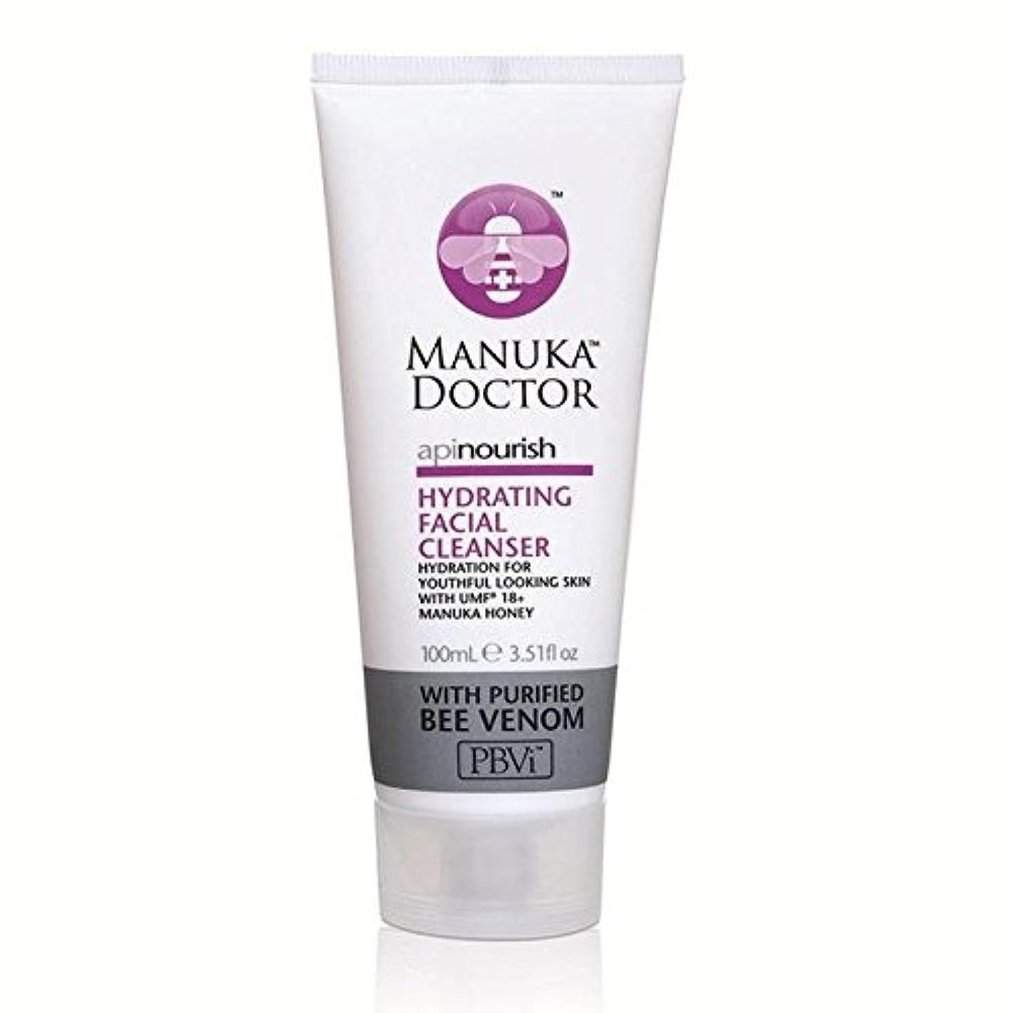 健全硬化する最適Manuka Doctor Api Nourish Hydrating Facial Cleanser 100ml (Pack of 6) - マヌカドクター洗顔料の100ミリリットルの水和養います x6 [並行輸入品]