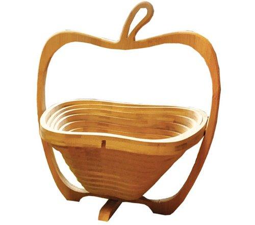 RoomClip商品情報 - [ラトルウッド]RattleWood フルーツ バスケット Lサイズ リンゴ アップル 木製  バンブー かご