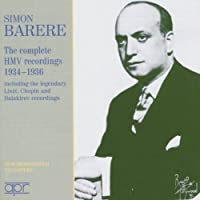 Complete Hmv Recordings 1934-1936 by CHOPIN / LISZT / SCHUMANN / BALAK (2005-05-10)