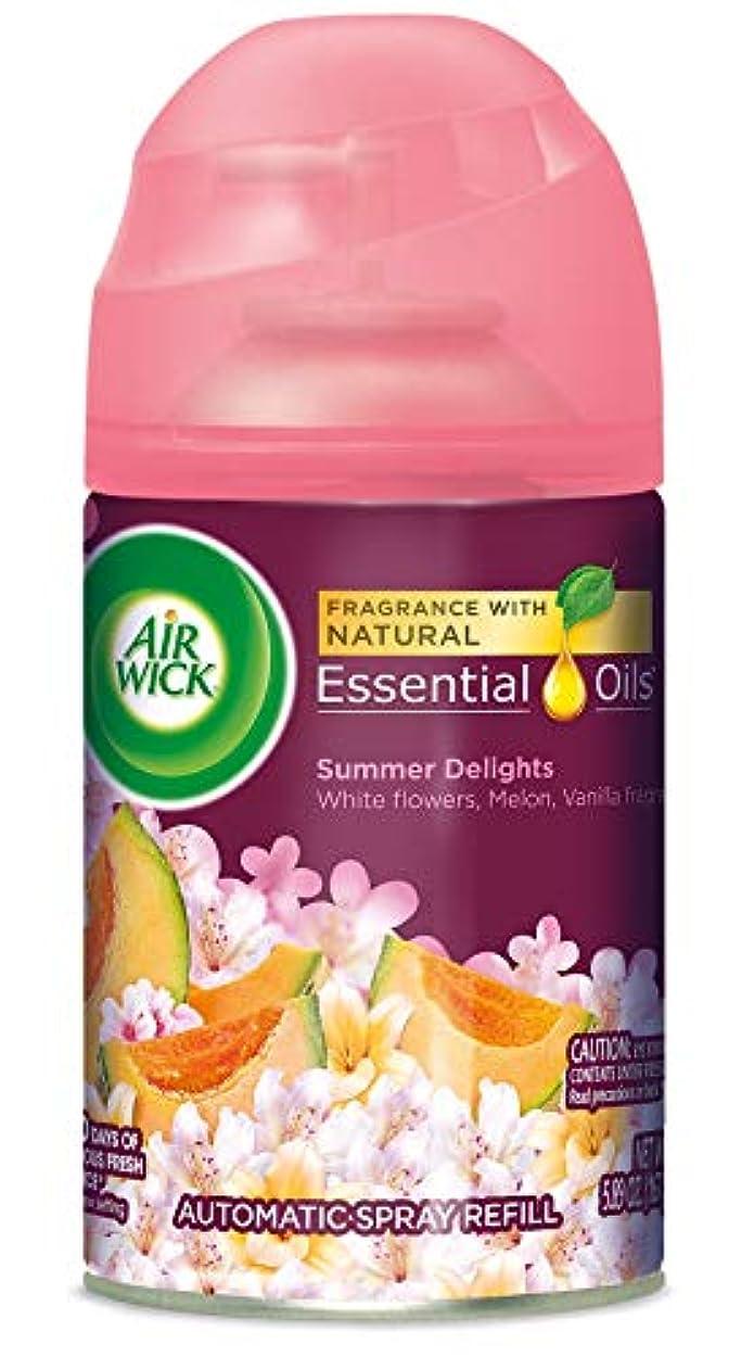 暖かくに対してハングAir Wick ライフ香りFreshmatic詰め替え用自動スプレー、夏の歓喜、6.17オンス、エア?フレッシュナー